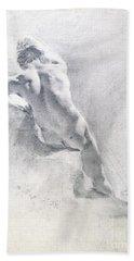 Study Of A Male Nude Beach Towel