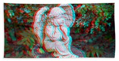 Stumped - Use Red-cyan 3d Glasses Beach Towel