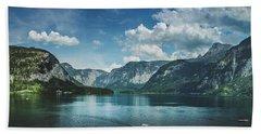 Stunning Lake Hallstatt Panorama Beach Towel