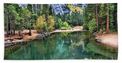 Stunning Lake - Yosemite  Beach Sheet by Chuck Kuhn