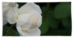 Stunning White Tineke Rose Beach Towel