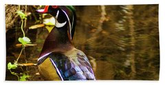 Stunning Wood Duck Beach Towel