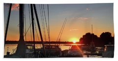 Sturgeon Bay Sunset Beach Towel by Rod Seel