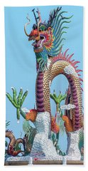 Beach Towel featuring the photograph Suan Sawan Golden Dancing Dragon Dthns0144 by Gerry Gantt