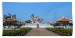 Beach Sheet featuring the photograph Suan Sawan Golden Dancing Dragon Dthns0145 by Gerry Gantt