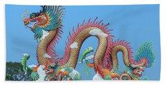Suan Sawan Golden Dancing Dragon Dthns0147 Beach Towel