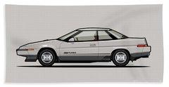 Subaru Alcyone Xt-turbo Vortex Silver Beach Towel