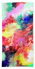 Subtle Vibrations, Canvas Four Of Five Beach Towel