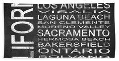 Subway California State 2 Square Beach Towel