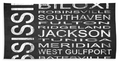 Subway Mississippi State Square Beach Towel
