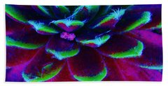 Succulent Abstract Beach Towel