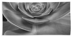 Succulent Bw Beach Towel