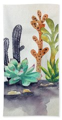 Succulents Desert Beach Towel