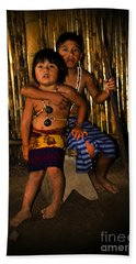 Beach Towel featuring the photograph Sucua Kids 901 by Al Bourassa