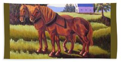 Suffolk Punch Day Is Done Beach Towel