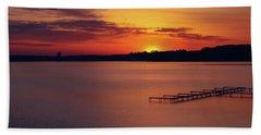 Beach Towel featuring the photograph Sugar Beach Sunrise by Rachel Cohen