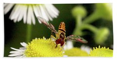 Beach Towel featuring the photograph Sugar Bee Wings by Meta Gatschenberger