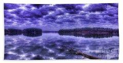 Beach Towel featuring the photograph Sugar Creek Reflections Lake Oconee Georgia Art by Reid Callaway