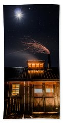 Sugar House At Night Beach Sheet by Tim Kirchoff