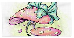 Sugar Puff The Dragon Beach Sheet by Lizzy Love