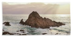 Beach Sheet featuring the photograph Sugarloaf Rock Sunset by Ivy Ho