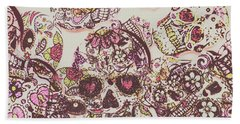 Sugarskull Punk Patchwork Beach Towel
