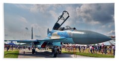 Beach Towel featuring the photograph Sukhoi by Tgchan