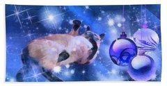 Sulley's Christmas Blues Beach Sheet