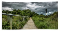 Beach Towel featuring the photograph Sullivan's Island Summer Storm Clouds by Donnie Whitaker