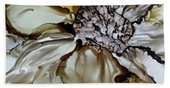 Beach Towel featuring the painting Sultry Petals by Joanne Smoley