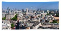 Sumer Panorama Of London Beach Sheet
