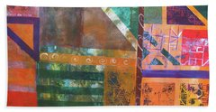 Beach Towel featuring the mixed media Summer Abstract by Riana Van Staden