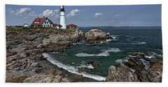 Summer Afternoon, Portland Headlight Beach Towel