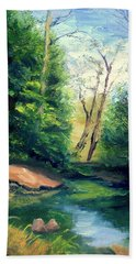 Summer At Storm Beach Towel by Gail Kirtz