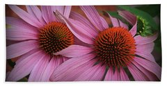 Summer Beauties - Coneflowers Beach Sheet