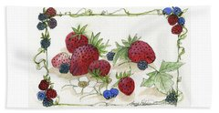 Summer Berries Beach Sheet