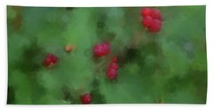 Beach Towel featuring the digital art Summer Berries by Aliceann Carlton