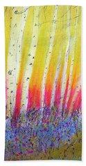 Beach Sheet featuring the pastel Summer Birch  by Linde Townsend