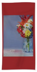 Beach Towel featuring the painting Summer Bouquet by Jane Autry
