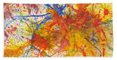 Summer Branches Alfame With Flower Acrylic/water Beach Sheet