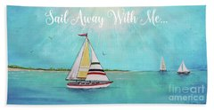 Beach Towel featuring the painting Summer Breeze-c by Jean Plout