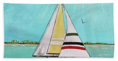 Beach Towel featuring the painting Summer Breeze-d by Jean Plout