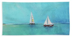 Beach Towel featuring the painting Summer Breeze-e by Jean Plout
