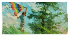 Beach Towel featuring the painting Summer Breeze by Steve Henderson
