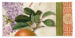 Summer Citrus Grapefruit Beach Towel by Mindy Sommers