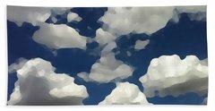 Summer Clouds In A Blue Sky Beach Towel