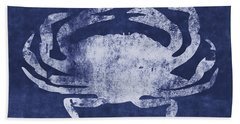 Summer Crab- Art By Linda Woods Beach Towel