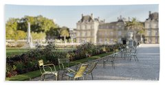 Summer Day Out At The Luxembourg Garden Beach Towel