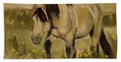 Beach Sheet featuring the painting Summer Days by Billie Colson