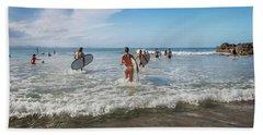 Summer Days Byron Waves Beach Towel by Az Jackson